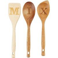 John Lewis & Partners Mix It Wood Utensils, Set of 3