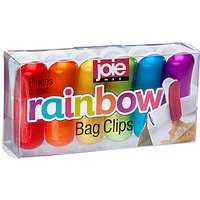 Joie Rainbow Bag Clips, Set of 6, Multi