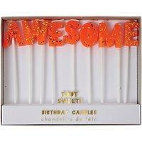 Meri Meri Toot Sweet Awesome Cake Candles, Set of 9, Orange