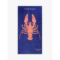 Ted Baker Lobster Beach Towel, Royal Blue