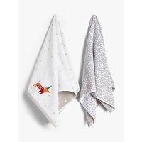 John Lewis & Partners Dachshund Hand Towel Bale, Set of 2
