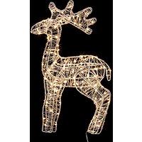John Lewis & Partners Small Reindeer LED Lit Figure