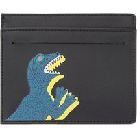 Paul Smith Dino Print Leather Card Holder, Black