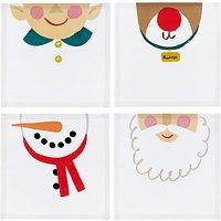 John Lewis & Partners Christmas Character Napkins, Set of 4, Assorted