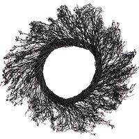 John Lewis & Partners Halloween Pre-Lit Black Twig Wreath