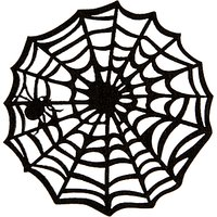 John Lewis & Partners Halloween Felt Spider Web Coasters, Pack of 4