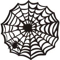 John Lewis & Partners Halloween Felt Spider Web Placemats, Pack of 4