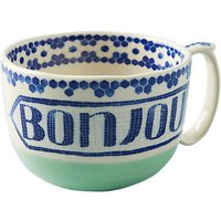 Anthropologie Valerie Bonjour Mug, 415ml, Teal