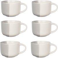 John Lewis & Partners Dipped Mugs, Set of 6, Grey