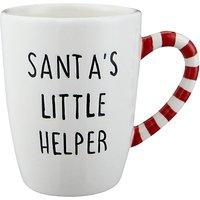 John Lewis & Partners Santa's Little Helper Mug, White/Red, 150ml