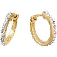 Missoma Cubic Zirconia Huggie Hoop Earrings, Gold