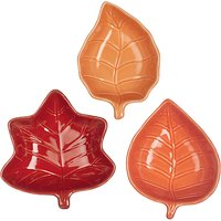 John Lewis & Partners Autumn Leaves Dishes, Set of 3, Assorted