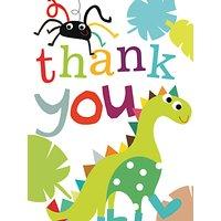 Caroline Gardner Dinosaur Thank You Cards, Pack of 10