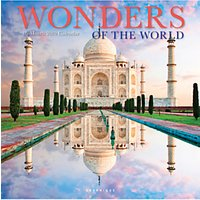 BrownTrout Wonders of the World Calendar 2019