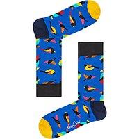 Happy Socks Bird Socks, One Size, Blue/Multi