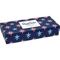 Happy Socks Nautical Pattern Socks Gift Box, One Size, Pack of 4, Multi