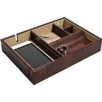shop for Dulwich Designs Windsor Leather Tray, Black at Shopo