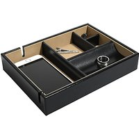 Dulwich Designs Windsor Leather Tray, Black