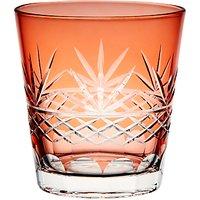 John Lewis & Partners Cut Glass Tumbler, 360ml, Orange