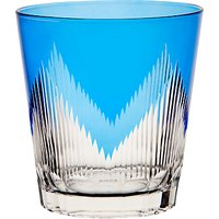 John Lewis & Partners Cut Glass Tumbler, 360ml, Blue