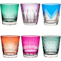 John Lewis & Partners Cut Glass Tumblers, 360ml, Set of 6, Assorted
