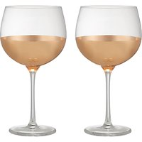 John Lewis & Partners Gin Glasses, 550ml, Set of 2, Clear/Gold