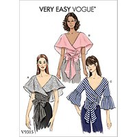 Vogue Women's Top Sewing Pattern, 9315