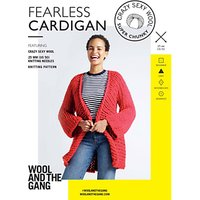 Wool and the Gang Women's Fearless Cardigan Knitting Pattern