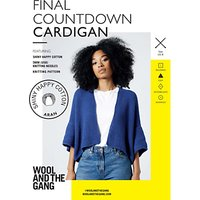 Wool and the Gang Women's Final Countdown Cardigan Knitting Pattern