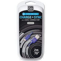 Go Travel Charge And Sync USB-C Cable, 2 Metres