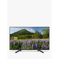 Sony Bravia KD49XF7093 LED HDR 4K Ultra HD Smart TV, 49 with Freeview Play & Cable Management, Black