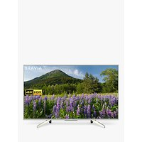 Sony Bravia KD49XF7073 LED HDR 4K Ultra HD Smart TV, 49 with Freeview Play & Cable Management, Silver