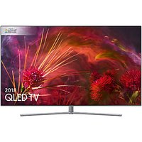 Samsung QE55Q8FN (2018) QLED HDR 1500 4K Ultra HD Smart TV, 55 with TVPlus/Freesat HD & 360 Design, Ultra HD Premium Certified, Silver
