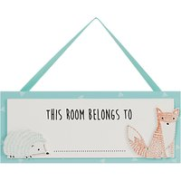 John Lewis Baby Forest Friends Room Plaque
