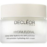 Decl ©or Hydra Floral Anti-Pollution Hydrating Rich Cream, 50ml