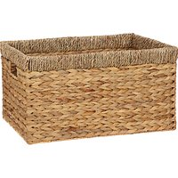 John Lewis and Partners Country Water Hyacinth Storage Basket, Rectangular