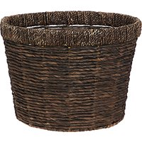 John Lewis and Partners Fusion Dark Water Hyacinth Storage Basket