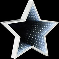 John Lewis and Partners LED Star Infinity Christmas Mirror Light