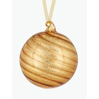 John Lewis & Partners Gold Swirl Ribbed Bauble, Gold