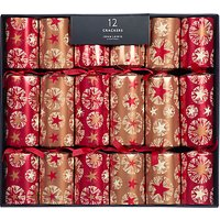 John Lewis & Partners Amber Star Luxury Christmas Crackers, Pack of 12, Copper