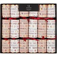 John Lewis & Partners Amber Christmas Ingredients Luxury Crackers, Pack of 12, Multi
