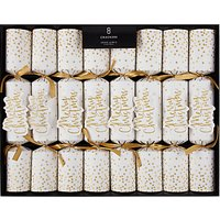 John Lewis & Partners Merry Christmas Crackers, Pack of 8, Gold