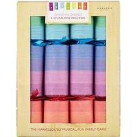 John Lewis & Partners Rainbow Musical Xylophone Game Luxury Christmas Crackers, Pack of 8, Multi