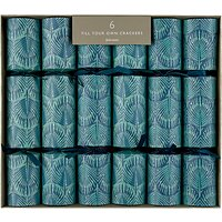 John Lewis & Partners Emerald Pavone Christmas Crackers, Pack of 6, Green