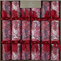 John Lewis & Partners Fruits & Florals Luxury Crackers, Pack of 6, Red