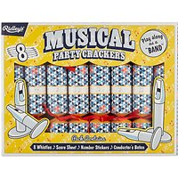 Ridley's Musical Party Luxury Christmas Rainbow Crackers, Pack of 8, Multi