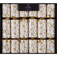 John Lewis & Partners Sequins Luxury Christmas Crackers, Pack of 12, Gold