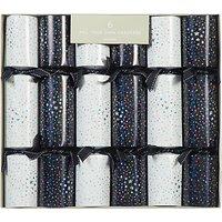 John Lewis & Partners Jet Starburst Monochrome Luxury Christmas Crackers, Pack of 6, Black/White