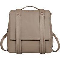 AllSaints Fin Shoulder Strap Backpack, Almond Brown