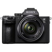 Sony Alpha 7 III Compact System Camera with 28-70mm Zoom Lens, 4K Ultra HD, 24.2MP, Wi-Fi, Bluetooth, NFC, OLED EVF, 5-Axis Image Stabiliser & Tiltable 3 LCD Touch Screen, Black